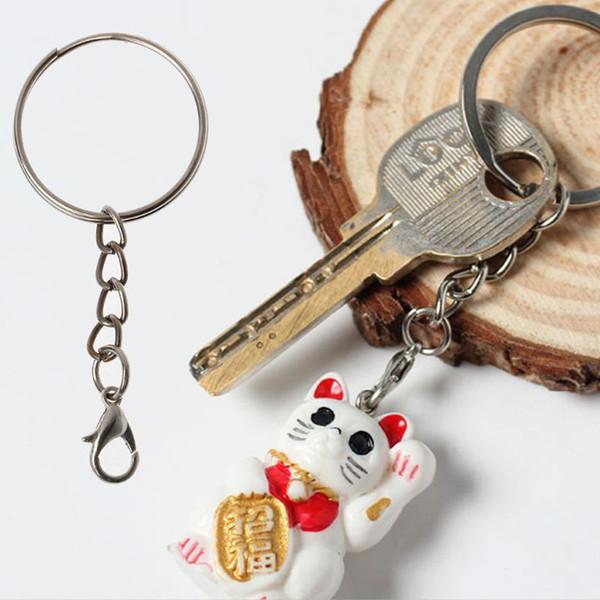 20Pcs anelli della catena chiave del gancio del catenaccio dell'ancora spaccata metallo con la fabbricazione di gioielli a catena