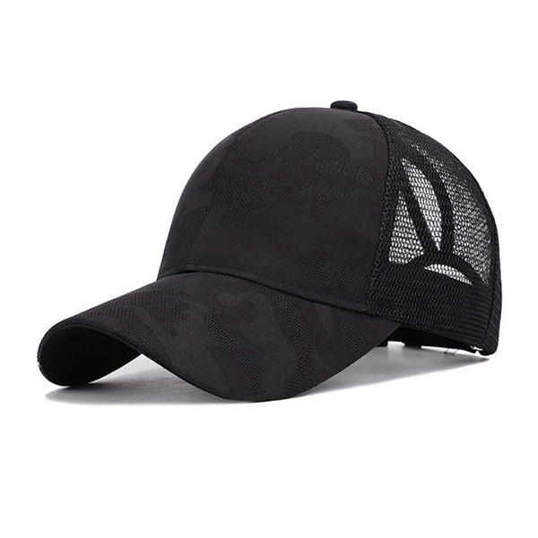 Бейсболки навес хлопок дышащий регулируемая задняя конский хвост шляпа головные уборы для hikingcamping спорта на открытом воздухе
