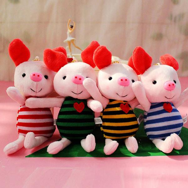 New Soft Stuffed Animals Toys Cute Plush Pig Toy Kawaii Baby Girls Boys Birthday Gifts Mini Piggy Bag Pendant Plush Dolls
