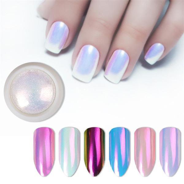 2019 nova unha glitter pérola neon rosa rub para unhas jóias glitter rosa cor shell sereia pérola espelho