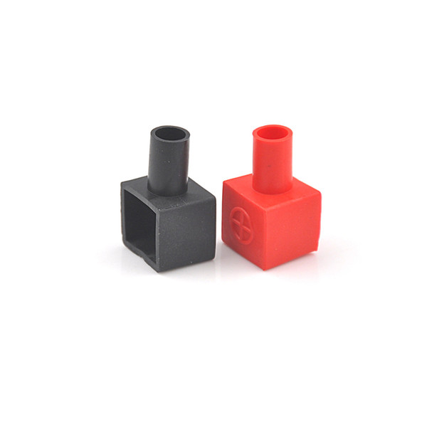 Connectors & Terminals 2pcs set 13 x 14mm Red Black Universal Square Motorcycle Battery Terminals Rubber Covers