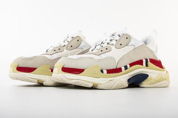 Горячей!! 2019 Мода Paris 17FW Triple-S Кроссовки Triple S Повседневная обувь для пап, для мужчин, женщин Бежевый Черный Ceahp Спортивный дизайнер Размер обуви 36-46