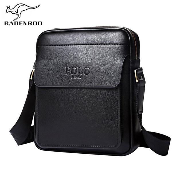 Badenroo cuero genuino polo hombres bolsas de hombro clásico Messenger Bag Cross Body Bag Moda Casual bolsos de negocios para hombres