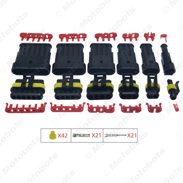 1set Auto Waterproof 1/2/3/4/5/6 Pin Way Electrical Wire Connector Plug Car Motorcycle Marine HID AWG Socket #3924