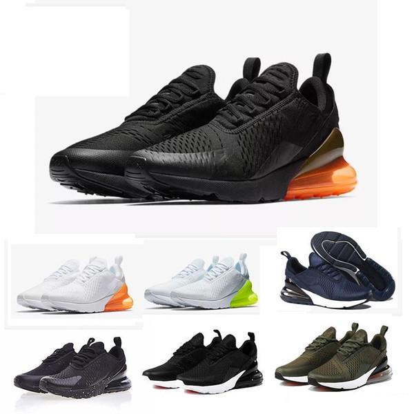 Нового Мужская обувь Кроссовки Женщина Бег Тренеры Спорт Кроссовки 27C Тройной черная белая серая обувь
