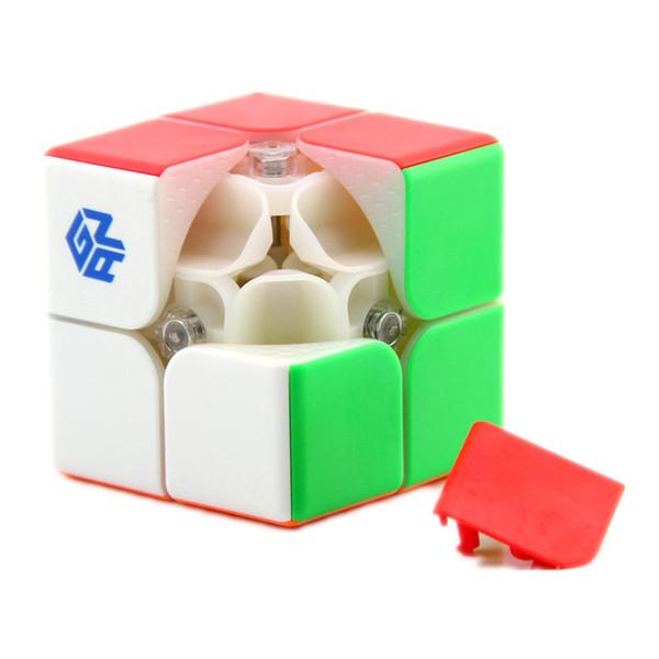 Atacado 249 V2 2x2 Magic Speed Cubo Stickerless GAN 249 V2M Puzzle Magnético Bolso Cubo Colorido Gans Brinquedos Para crianças