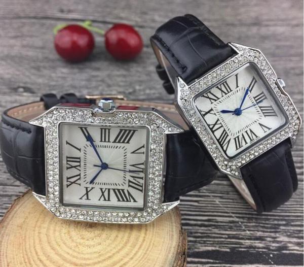 U1Factory Gerade Haar Auto Ballon Luxusuhr Lady Silber Lederband Männer Diamant-Armbanduhr der Frauen Designer Multicolor Paar Geschenk