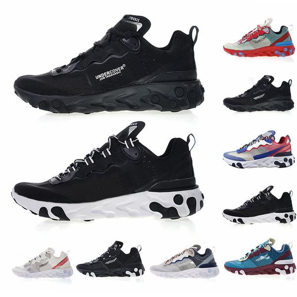 Hot Brand UNDERCOVER x React Element 87 Triple Black White Red Racer Blue Womens Running 87 Shoes Women Men Trainer Luxury Designer Runners