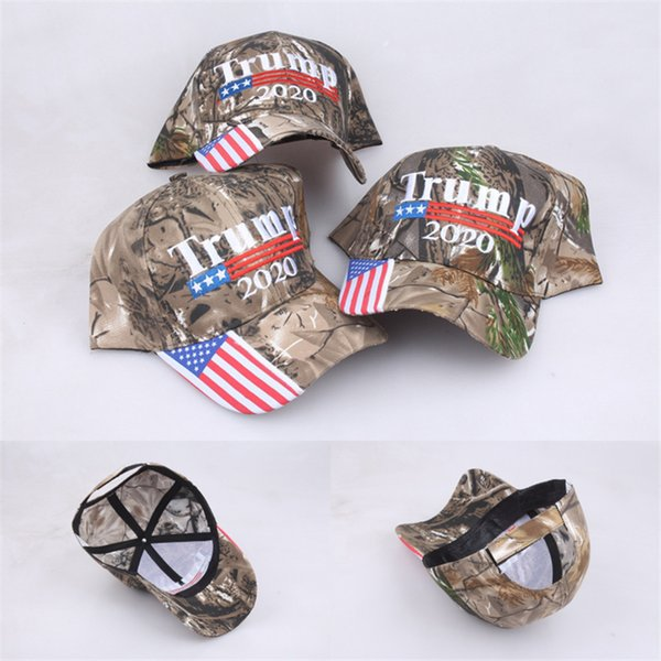 best selling President Donald Trump 2020 Baseball Hat Camo Color MAGA Cap Adjustable Strapback with US Flag Snapback Sports Beach Jogging Golf Caps A5708