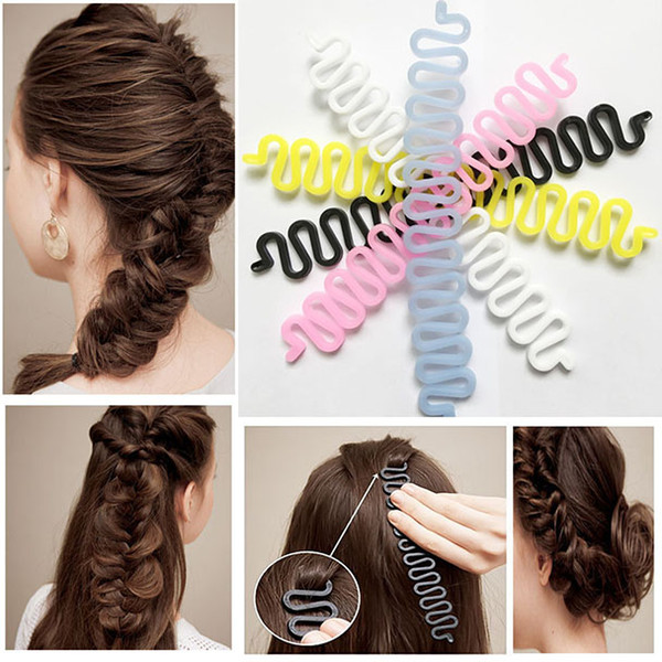 Free shipping Hairband accesories styling tool Hair Braiding Tool Roller With Hook Magic Hair Twist Styling Bun Maker stretchable elastic