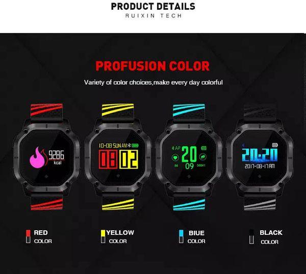 Datos de salud Pantalla en color K5 Reloj inteligente IP68 Resistente al agua Múltiples modos de deportes Cronómetro Reloj inteligente