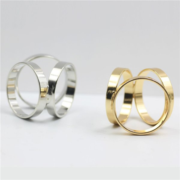 Women Shawl Ring Clip Scarves Fastener Gold Silver Round Silk Scarf Buckle Brooch Lapel Pins For Female Girl Party Wedding Jewelry Pin