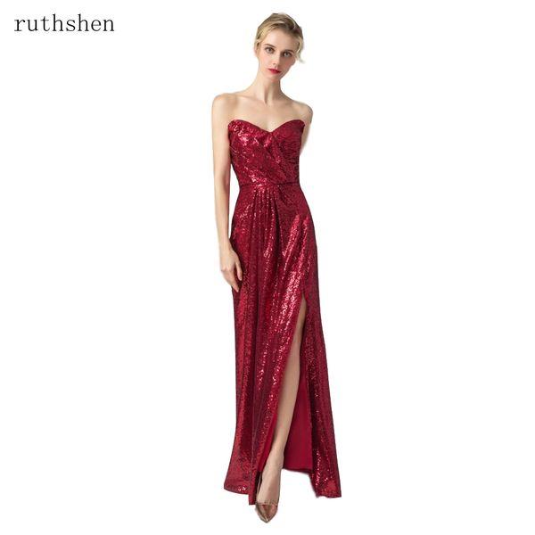 Großhandel Reflektierende Kleid Party Kleid Schlitz Formale Abendkleider Vestido De Festa Langes Abendkleid Pailletten Sparkle Elegant