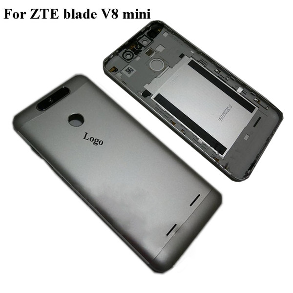 New Battery Door Back Cover Housing Case For ZTE Blade V8 Mini Power Volume Buttons Camera glass For Blade V 8 Mini Rear Cover