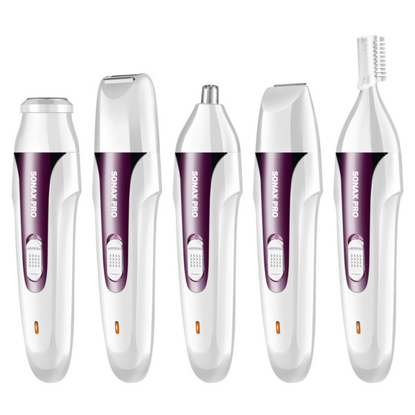 MARSKE Electric Epilators Sonax Pro Ladies Eyebrow shank-feathering armpit pubes hair grainer the whole body shed 3 4 5 in 1 Nose Trimmers