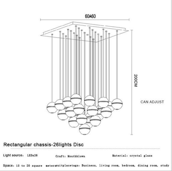 26 Heads Rectangular Base