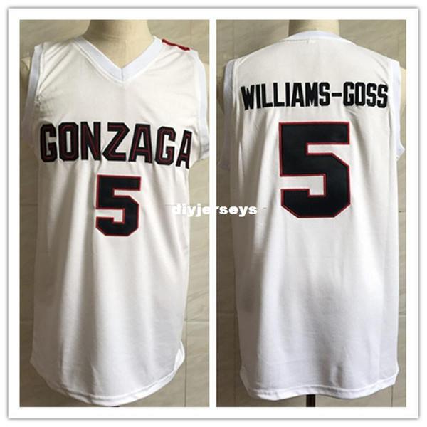# 5 Nigel Williams-Goss Gonzaga Bulldogs College Retro Classic Basketball Jersey Mens cucito personalizzato numero e nome maglie