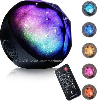 Magic LED Crystal Ball Wireless Speaker USB Rechargeable Hand-free Loudspeaker Voice Box with Enhanced Bass and Remote for House Party DJ