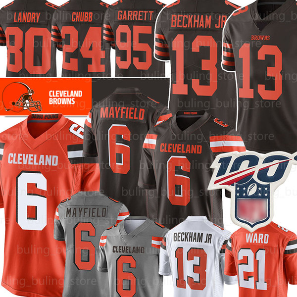 13 Odell Beckham Jr Jersey Brown 6 Baker Mayfield Cleveland 95 Myles Garrett 80 Jarvis Landry Denzel Ward, 26 Greedy Williams Thomas Chubb