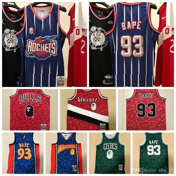 06 Mens APE x Mitchell & Ness 1985-86 BostonCeltics snoop dogg Swingman Basketball Jersey Hot pressing printed Name Number US Size XS-X