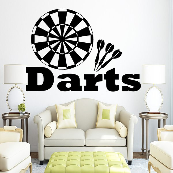 Target Darts Wall Decals Removable Vinyl Wall Stickers For Kids Boys Room  Nursery Wall Art Poster Vinilos Paredes Murals Alphabet Wall Stickers