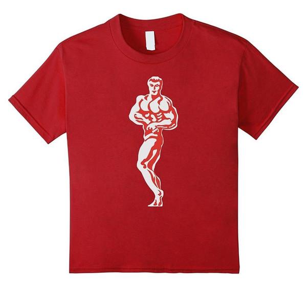Nueva camiseta de moda Camisetas de algodón Cuello redondo Máquina de impresión de manga corta Retro Culturismo Competición Pose Camisetas para hombres
