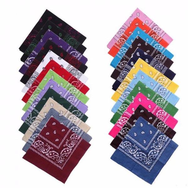 top popular Cheap Vintage Square Geometric Print Cotton Head Wrap Neck Scarf Wristband Handkerchief Pocket Towel C19041301 2021
