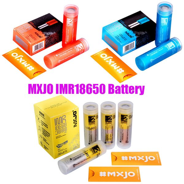 best selling Original MXJO IMR 18650 Battery Type 1 2 Red Blue Yellow Skin 3500mAh 3000mAh 35A 3.7V Vape Rechargeable Lithium Batteries 100% Authentic