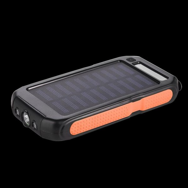 Solar Energy General Portable Dual USB External 10000 mAh Battery Charger Power Bank Built-in dual interface.