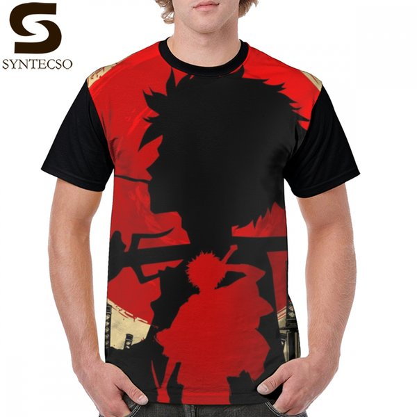 Samurai Champloo T Shirt Samurai Sunset Mugen T-Shirt Mens Awesome Graphic Tee Shirt Graphic Fashion Cotton Short Sleeve Tshirt