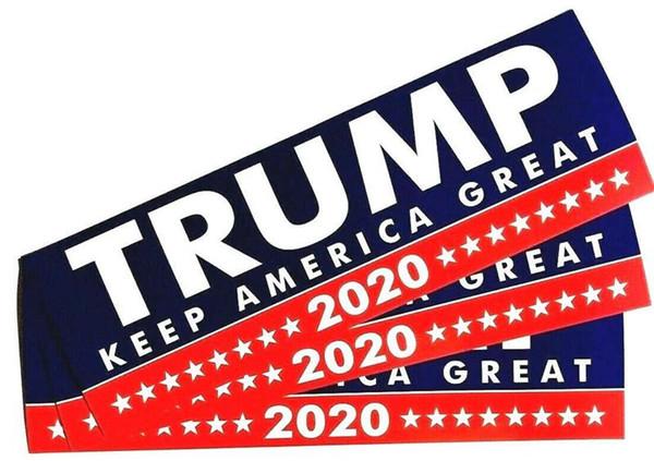 7.6 * 22CM 2020 allgemeine Wahl wir Präsident Donald Trump Car Sticker (10 Stücke) PVC-schön gemachte Auto-Aufkleber