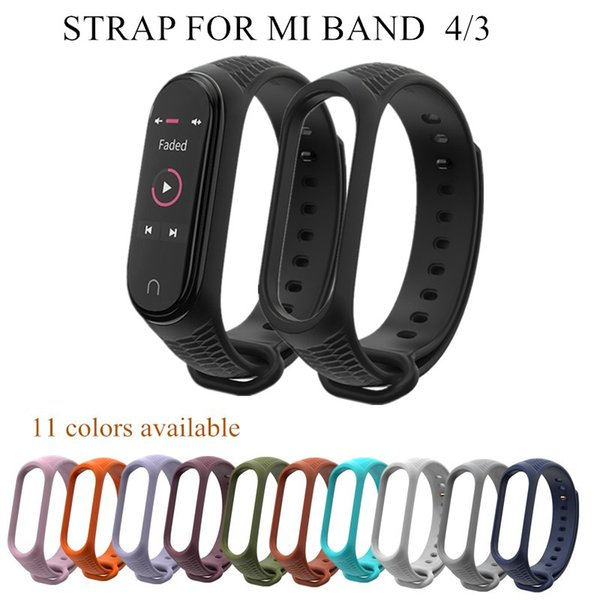 Mi Band 4 3 Silicone Wrist Strap Aurora Bracelet for xiomi Mi band 4 3 smart watch bracelet sport miband Strap