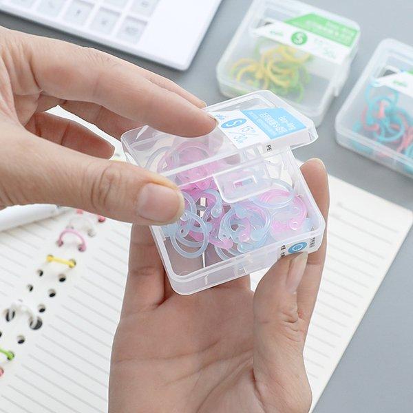 Binding Combs & Spines 2 Boxes Creative Plastic Multi-Function Circle Ring DIY Albums Loose-Leaf Book Binder Hoops Office Binding Supplies
