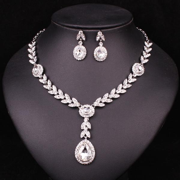 demoiselles dhonneur mari/ée f/ête ou bal Viennois Parure collier et boucles doreilles pour robe de mariage