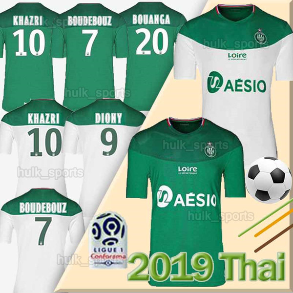 19 20 AS Saints Etienne MAILLOT Football Maillots 2019 2020 Etienne KHAZRI ASSE Maillot Cabella BERIC NORDIN football Hamouma équipements chemises