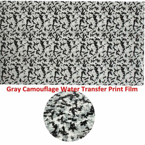 Autoleader 50x100cm Grigio Camouflage Hydrographic Water Transfer Hydro Immersione DIP Stampa Film Decor Moto Decalcomanie Adesivi