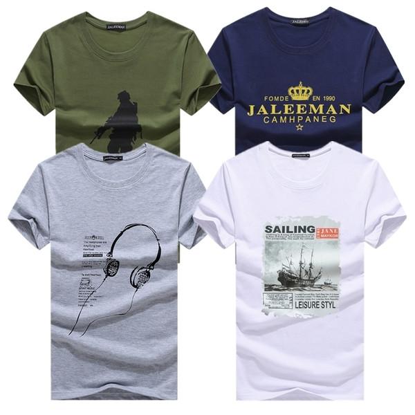 Kuyomens Erkekler Için 4 Adet T Shirt Yeni Varış erkek T-Shirt Artı Boyutu Moda Yaz Kısa Kollu T Shirt Erkek Erkek Tee Gömlek Y19042603
