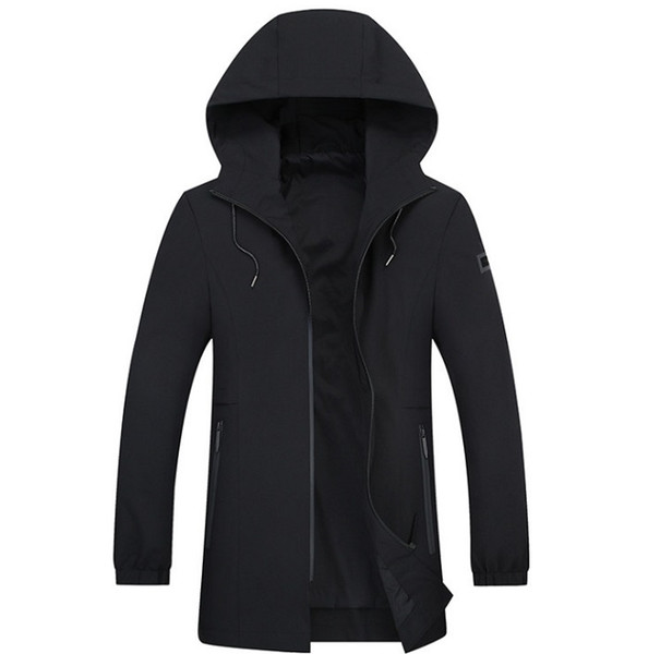 Trench Coat Uomo Classic Trench Jacket Maschile Trench Mens Mens Long Abbigliamento 5XL 6XL 7XL 8XL