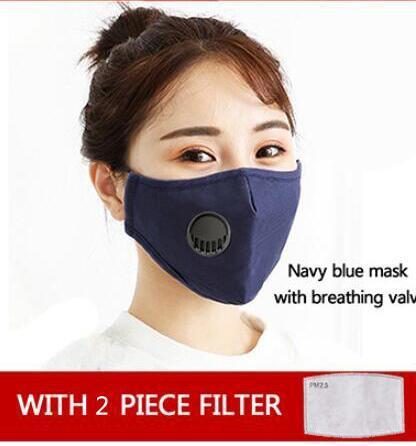 1pcs bleu masque + 2pcs filtres