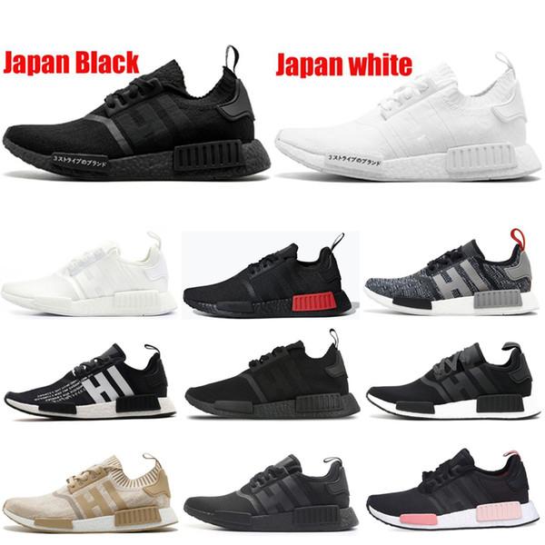 New Designer Nmd R1 Running Shoes Sneaker Men Women Japan Black