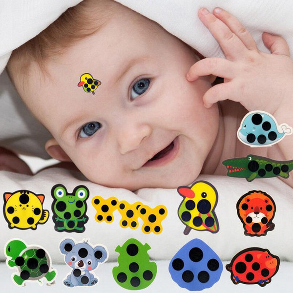 top popular In Stock Baby Cute Cartoon Animal Sticker Forehead Head Strip Body Fever Thermometer Children Safety Baby Care Thermometer 2020