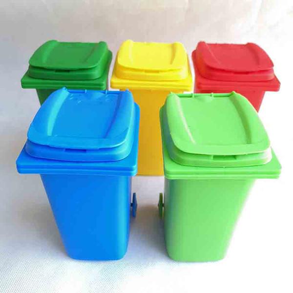 Big Mouth Toys Mini Trash lápis titular reciclagem pode Caso Tabela Pen plástico Armazenamento Bucket Stationery Sundries Organizer Ferramentas 5 cor escolher
