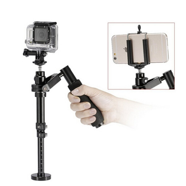 Freeshipping S100 Handheld Camera gimbal Stabilizer for Steadicam for Iphone 6 / 7 plus Smartphone/ For GoPro HERO5 Session / HERO 5 / 4