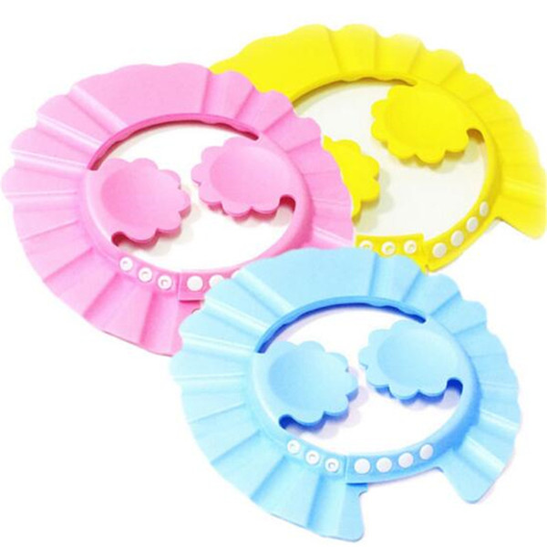 DHL Baby Bath Caps Kids Child Shampoo Bath Bathing Shower Product Soft Adjustable Earmuffs Shower Cap