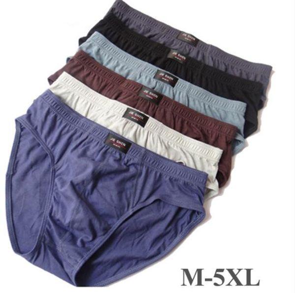 Mens Cuecas de Algodão Respirável Macio Underwear Cuecas Dos Homens Cuecas Cor Sólida Moda Plus Size M-5XL Hommes Cueca Cotidiana
