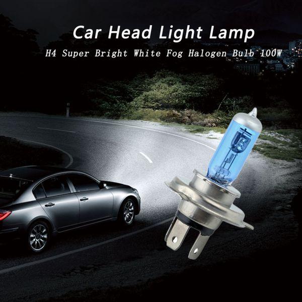 H4 100W 12V Super White Fog Lights Halogen Bulb High Power Car Headlight Lamp Car Light Source Parking Head Auto 6000K Hot