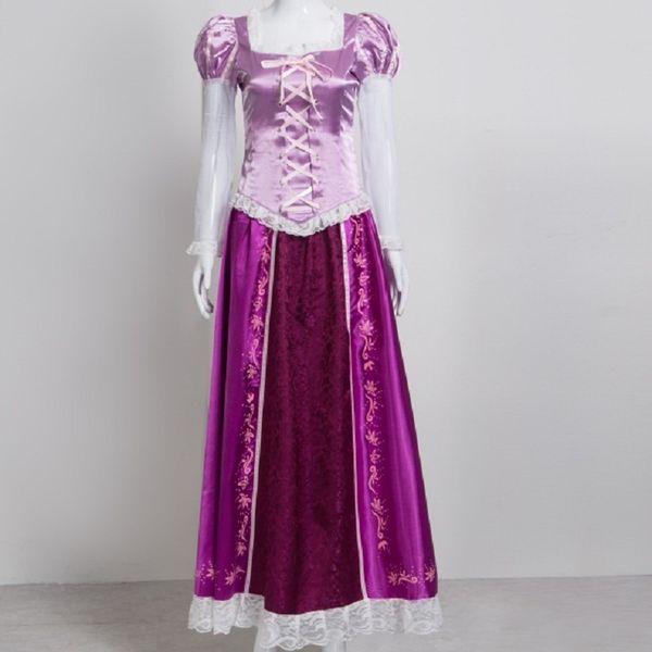 ostum girl kids purple princess rapunzel dress cosplay adult costume for girls kids children tangled kid halloween costumes for women pl...