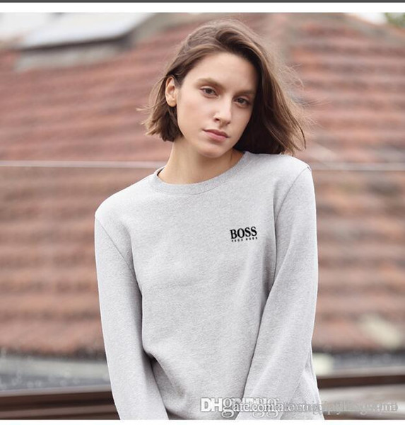 Spring and autumn women's hooded sweater sport long sleeve base coat simple round collar jacket casual wear No balls shrink, no wrinkle