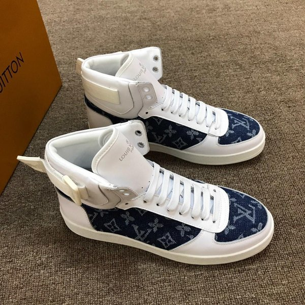Sneaker Großhandel Mode Schnürstiefel Designershoestop Qualität High Boot Top Von Rivoli Designer Schuhe Druck Herren Box Luxus Mit 4R53ALj