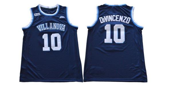 Personalizado barato 2018 Villanova No. 10 Donte DiVincenzo College Jersey azul marino cosido Personalizar cualquier nombre de nombre HOMBRE MUJER JOVEN XS-5XL
